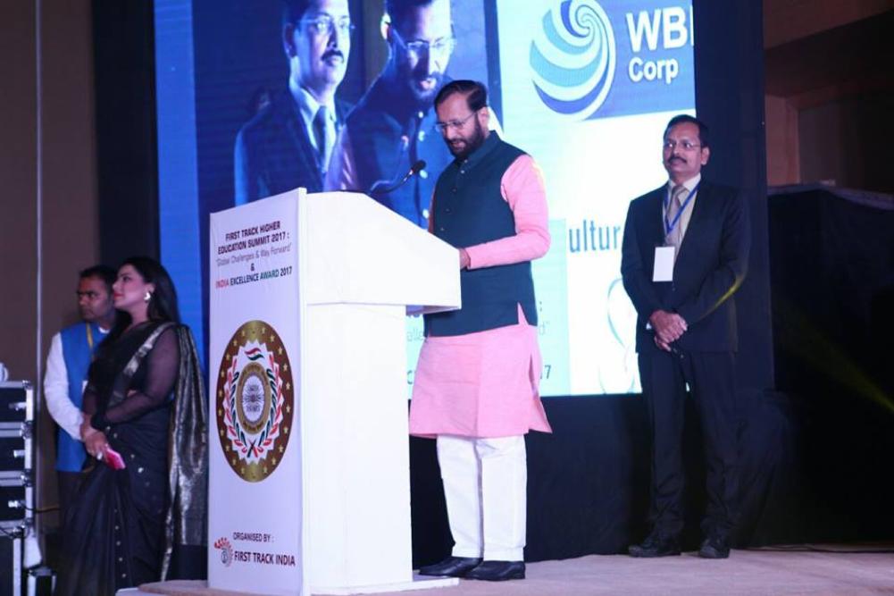 Prakash Javadekar Ji at India Excellence Award 2017